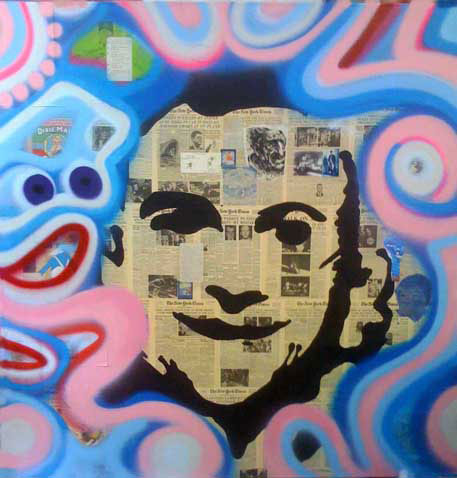 1_RobertTaxi 72inches x 72 inches mixed media on canvas