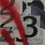3 40cm x 40cm mixed media on canvas