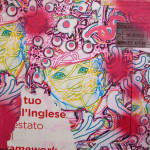 Bound 40cm x 40cm mixed media on canvas