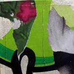 Drag 40cm x 40cm mixed media on canvas