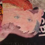 Cow Eyes 40cm x 40 cm jump mixed media on canvas