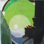 Dragolapuan 40cm x 40cm jump mixed media on canvas