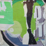 Dragon Poo 3 40cm x 40cm jump mixed media on canvas