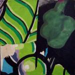 Leaf Me 40cm x 40cm jump mixed media on canvas