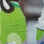 Lochness 40cm x 40cm jump mixed media on canvas
