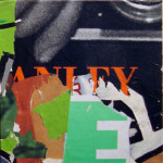 Green Stanley 40cm x 40cm jump mixed media on canvas