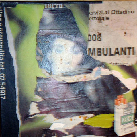 kool ambulanti 40cm x 40cm jump mixed media on canvas