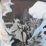 Handy Turk 40cm x 40cm jump mixed media on canvas