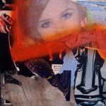 Sad Benet 40cm x 40cm jump mixed media on canvas
