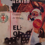 Santa 40cm x 40cm jump mixed media on canvas