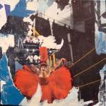 Tranny ballet 40cm x40cm jump mixed media on canvas