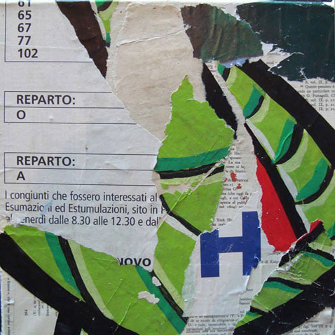 Reparto Mi 40cm x 40cm jump mixed media on canvas