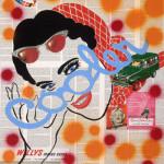 cooler 45cm x 70cm   jump   mixed media on canvas